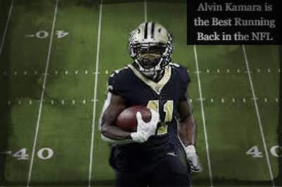 Alvin Kamara the best running back in the NFL.