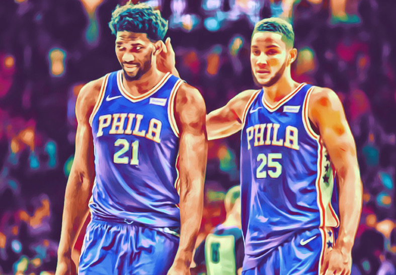 Ben Simmons and Joel Embid the duo that will rule the next decade of the NBA.